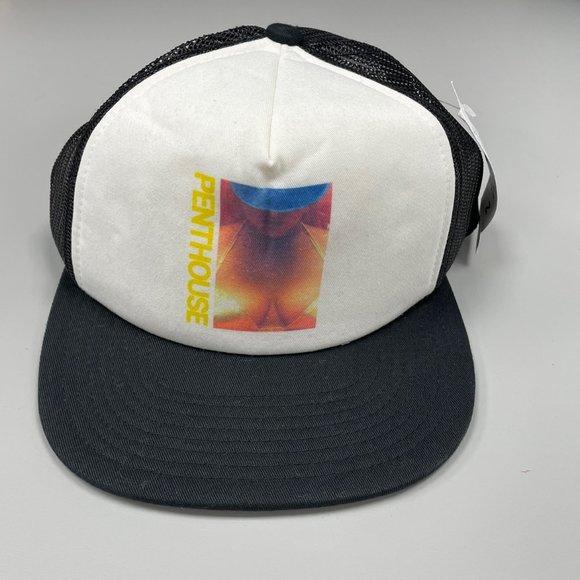 NWT HUF x Penthouse Trucker Cap in Black New Trucker Cap Snapback One Size